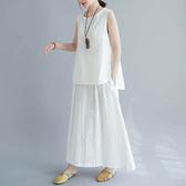 仙女素雅飄逸感套裝(上衣+裙子) 獨具衣格 J2786