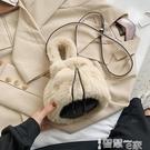 手提包 洋氣百搭小包包女2021秋冬新款潮時尚手提側背包網紅毛毛絨水桶包 【99免運】