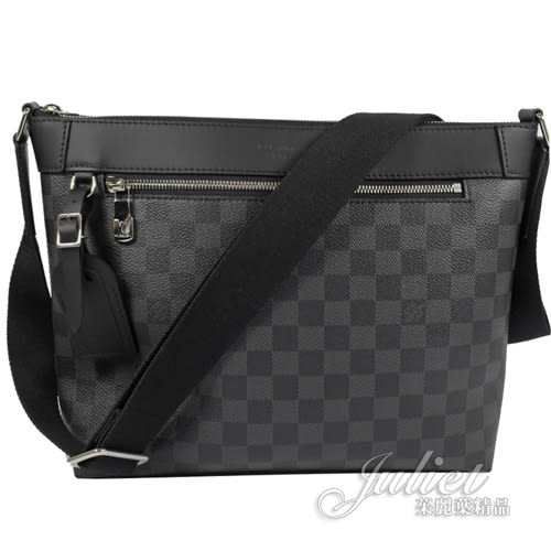 茱麗葉精品 全新精品 Louis Vuitton LV N40003 Mick PM 黑灰棋盤格紋斜背信差包/郵差包 現貨