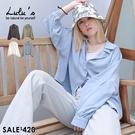 LULUS【A01200711】C滑料傘擺襯衫4色