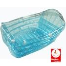 出清特價 充氣式澡盆-透明藍...