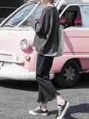 喇叭褲 喇叭牛仔褲女早秋闊腿寬鬆學生正韓高腰百搭直筒九分褲子【88折免運】