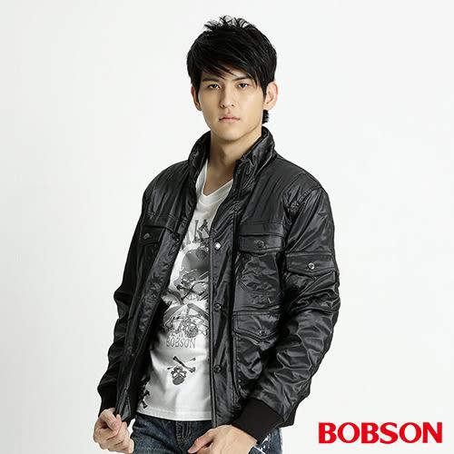 BOBSON 男款多口袋防風外套(黑31046-88)