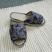 【MAGE】台灣製藺草佩斯利印花拖鞋