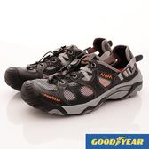 【GOODYEAR】男款固特異水陸兩用鞋-GAMW73880-黑灰-男段-現貨