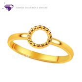 【元大珠寶】『甜甜圈』黃金戒指 活動戒圍-純金9999國家標準