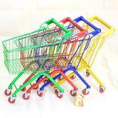 兒童購物車家用小推車超市推車 玩具精品彩色女孩男孩過家家車子xw