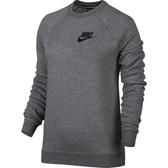 Nike AS W NSW RALLY CRW [855405-091] 女 休閒 長袖 上衣 純棉 舒適 大學T 灰