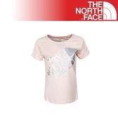 【The North Face 女 Logo短T《橘》】2XUZ/吸濕排汗/透氣/運動/戶外/休閒上衣