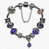 串珠手鍊-水晶琉璃飾品紫色生日情人節禮物女配件2款73ay146【時尚巴黎】
