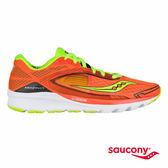 SAUCONY KINVARA 7 輕量緩衝專業訓練鞋-橘x黑x銀光綠