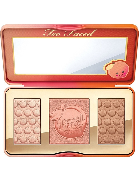 美國 TOO FACED Sweet Peach Glow palette 水蜜桃 打亮 腮紅 修容盤