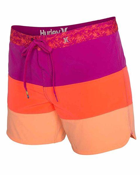 Hurley 幻影系列(超機能)PHANTOM 5 BEACHRIDER 海灘褲 - 女(粉/橘)