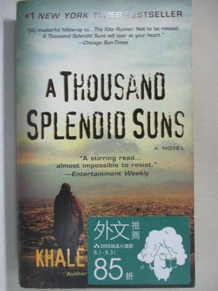 【書寶二手書T1/原文小說_GHA】A Thousand Splendid Suns_Khaled Hosseini