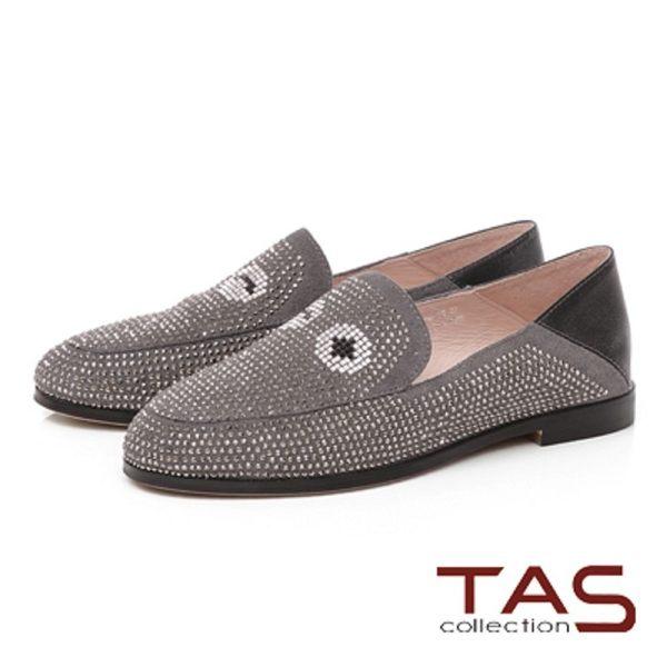 TAS 眼睛水鑽樂福鞋