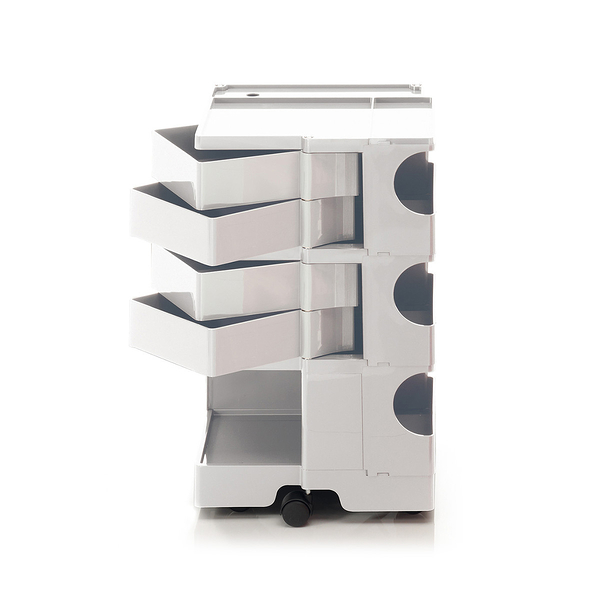 B-Line Boby Storage Trolly System Mod.M H73.5cm 巴比 多層式系統 收納推車 - 高尺寸 (四抽屜收納) 白色款