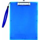 《享亮商城》NO.66192 便利袋板夾 A4板夾(透明藍/白色文件袋) 力大