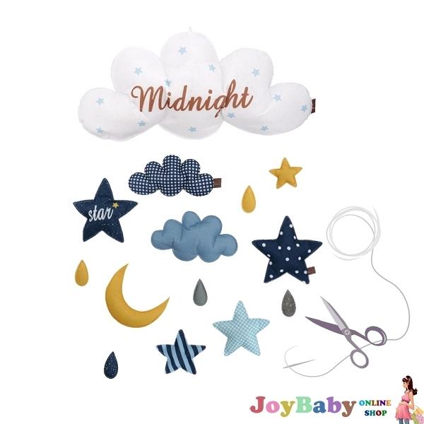 布料壁掛裝飾 雲朵氣球星星床鈴壁飾 掛件-JoyBaby