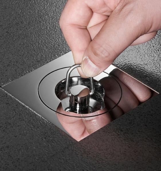 【麗室衛浴】砌磚浴缸用 方形提拉式落水頭 M-039-3A 適用於1.25/1.5及2/3英吋