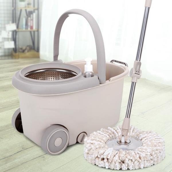 拖把桶旋轉拖把免手洗家用雙驅動懶人自動擠水干濕兩用拖布桶      交換禮物