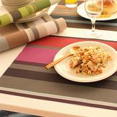 條紋系列隔熱餐墊 優質餐桌墊 西餐墊 防滑隔熱 餐墊 重複洗用 廚房 客廳 【Q028】MY COLOR