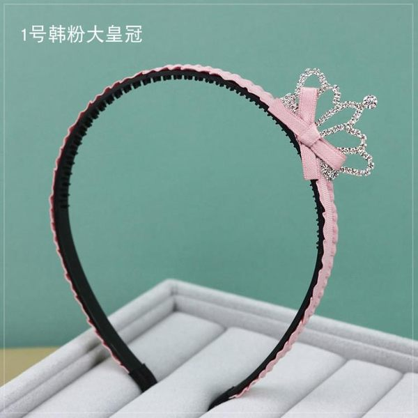 正韓兒童髮飾女童寶寶小女孩髮卡公主水鉆皇冠髮箍頭箍帶齒頭飾
