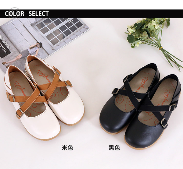 女款 89台灣製造皮質輕便舒適柔軟後踩兩穿拖鞋 休閒鞋 平底鞋 懶人鞋 娃娃鞋 圓頭鞋 59鞋廊