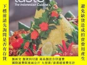 二手書博民逛書店taste罕見the indonesian cuisine 菜譜