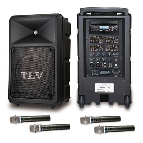 TEV 藍芽/CD/USB/SD四頻無線擴音機 TA680B-4(200W)