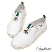訂製鞋 全真皮精緻昆蟲柔軟休閒鞋-艾莉莎ALISA【2531872001】白色下單區