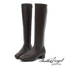 長靴 高雅氣質素面方頭長筒跟靴(咖) *BalletAngel【18-138-15co】【現+預】