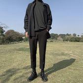 西裝褲韓版九分褲男士寬鬆小西褲港風西裝褲直筒休閒褲修身小腳褲潮 晶彩生活
