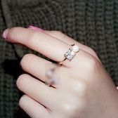 戒指 925純銀 鑲鑽-迷人珍珠生日七夕情人節禮物女開口戒3色73dv2[時尚巴黎]