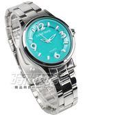 Daniel Wang 立體數字時刻腕錶 防水手錶 女錶 鋼錶帶款 綠色 數字錶 DW3166綠