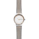 Skagen Freja 晶鑽小錶徑米蘭帶女錶-銀x雙色/26mm SKW2699
