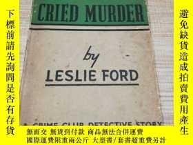 二手書博民逛書店THE罕見TOWN CRIED MURDER 無路可逃 英文原版Y138791 LESLIE FORD co