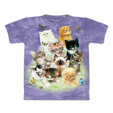 【摩達客】 (預購) 美國進口【The Mountain】自然純棉系列 10隻貓 設計T恤(1049045288a)
