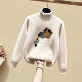 女童水貂絨毛衣秋冬新款兒童打底衫加絨加厚中大童套頭針織衫 晟鵬國際貿易