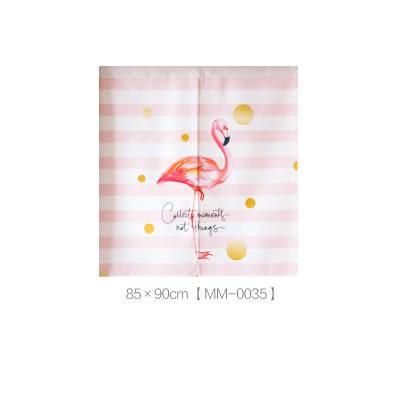 可愛時尚棉麻門簾E290 廚房半簾 咖啡簾 窗幔簾 穿杆簾 風水簾 (85寬*90cm高)