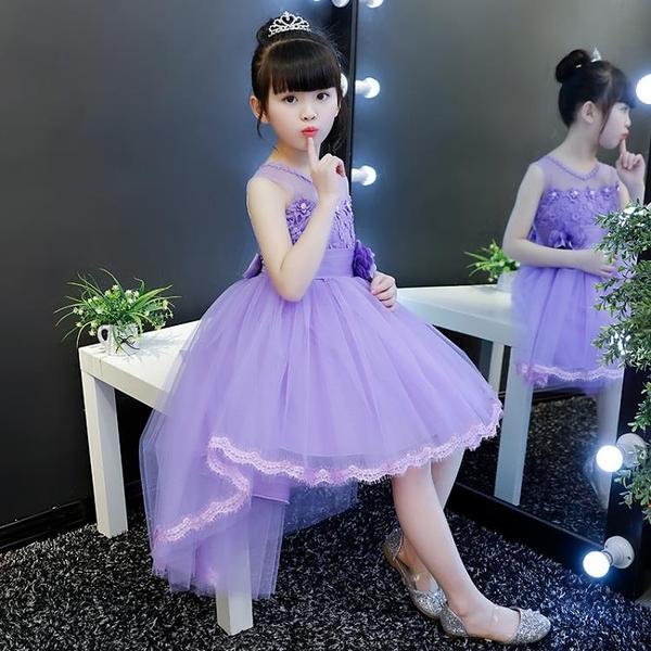 夏款女童洋裝公主裙蓬蓬紗兒童裝禮服夏裝2020新款女孩洋氣裙子 滿天星