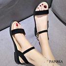 特惠99元PAPORA簡約平底休閒涼拖鞋KQ248黑/米