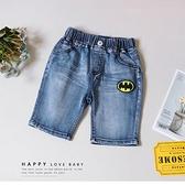 帥氣蝙蝠俠刷白牛仔短褲 丹寧 春夏童裝 男童短褲 男童牛仔短褲 男童牛仔褲 男童褲子