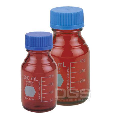 《Kimble》茶色廣口血清 試藥瓶 GL45 Bottle, Media, Screw Cap, Amber, GL45 PP Cap,  RAY-SORB