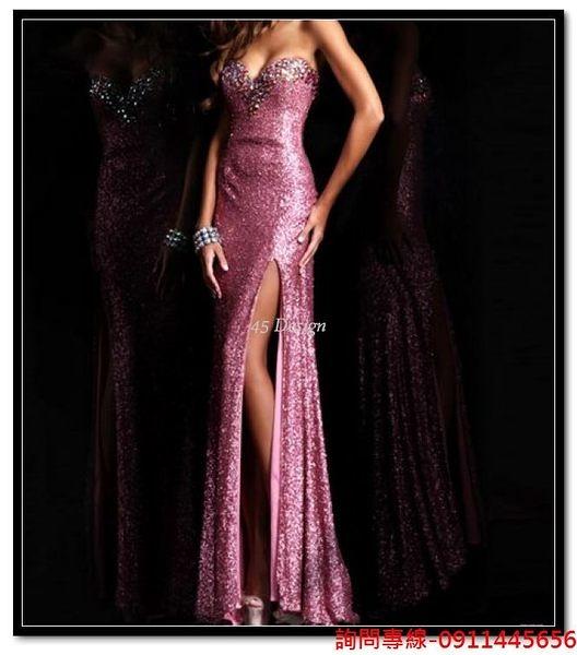 (45 Design) 訂做款式7天到貨專業訂製 中大尺碼高檔定制  禮服訂製手工婚紗禮服 主持表演走秀
