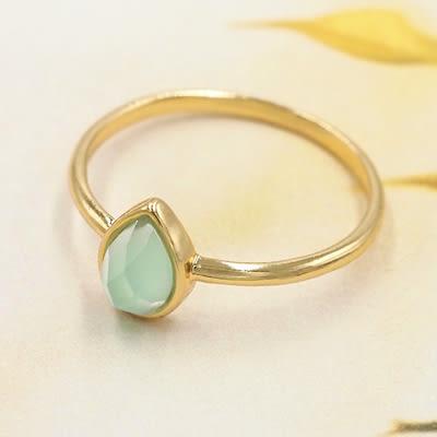 〔APM飾品〕日本Orelia 雨後天晴幸運能量戒指 (綠色款) (粉色款)
