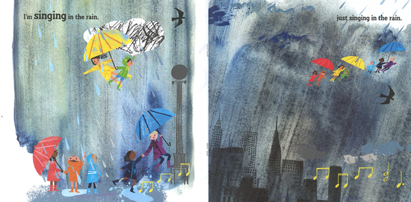 【麥克書店】SINGING IN THE RAIN/ 英文繪本《主題: 童謠韻文》