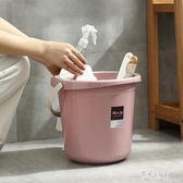家用加厚圓形大號塑料桶手提式水桶洗衣桶泡腳桶子儲水桶帶蓋小號 DR2884【彩虹之家】