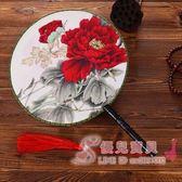 團扇宮扇定制定做 古典古風雙面圓扇中國風漢服拍照道具舞蹈扇子