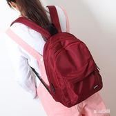 中學生雙肩男女絲滑牛津布簡約純色雙肩書包  JL2570『miss洛雨』TW