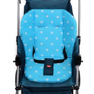 【嬰兒車座墊100%無膠絲棉】通用型多功能推車汽座餐椅雙面座墊【五點式安全帶適用】